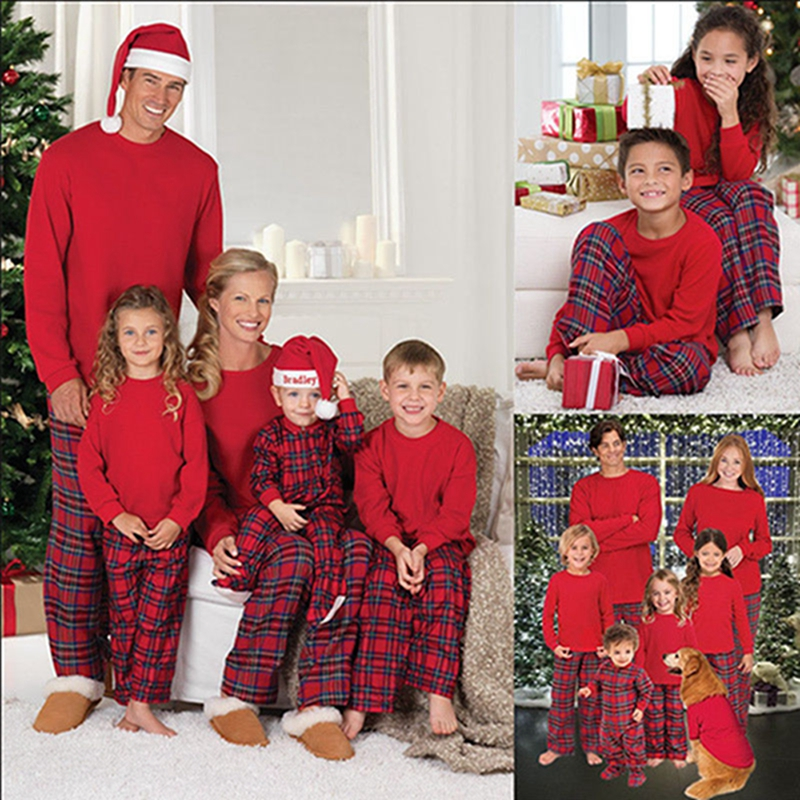 Family Matching Christmas Pajama Sets New Couples Matching Pajamas Christmas PJS Kids Adult Xmas Sleepwear Nightwear Clothing
