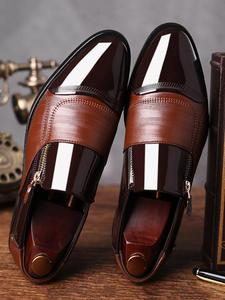 UPUPER Dress Shoes Classic Office Business Formal Elegant Men's Slip-On Fashion Black