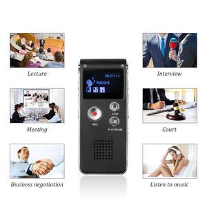 Image 2 - Kebidumei 8GB קול דיגיטלי מקליט נטענת דיקטפון טלפון אודיו נגן אודיו מקליט MP3 נגן עם מיקרופון