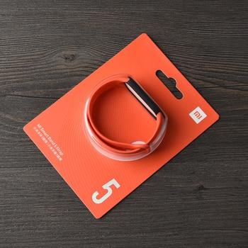 100% Original Xiaomi mi band 6 5 strap silicone bracelet Mi band6 Yellow Strap wrist XiaoMi Mi Band 5 replacement silicone strap 11