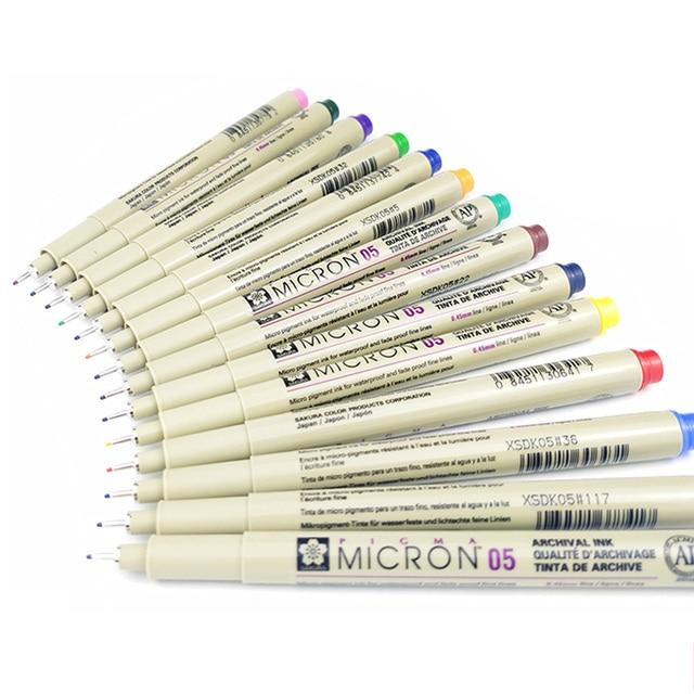 Markers Set Pigma Micron Pen Soft Brush Drawing Painting Waterproof Pen 005 01 02 03 04 05 08 1.0 2.0 3.0 Brush Art Markers 3