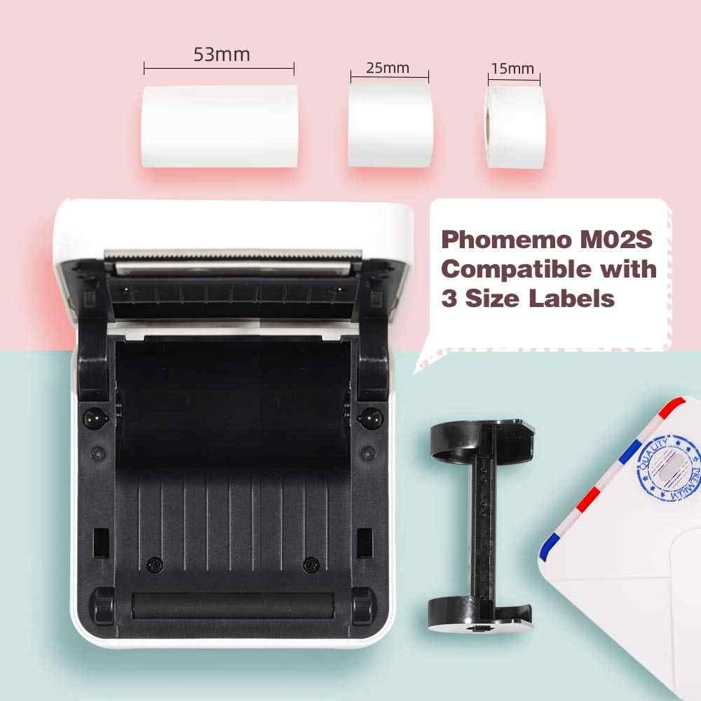 Impresora fotográfica térmica portátil Phomemo M02S, Mini impresora multifunción Bluetooth, impresión HD de 300 DPI, envío rápido