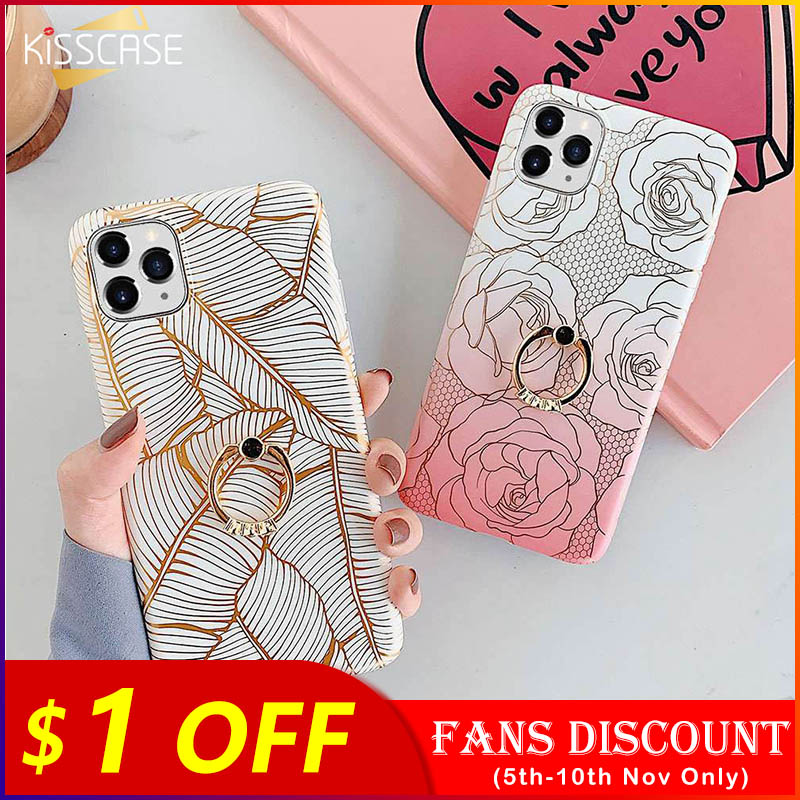 KISSCASE Marble Glitter Phone Case For iPhone 11 Cover 11PRO MAX X XS XR XS MAX 11PRO Coque For iPhone 8 7 6plus 6 6S X XS Funda