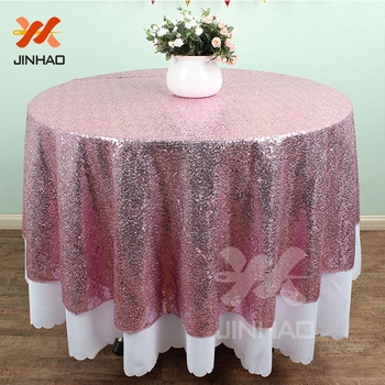 Multi-color Can Be Customized 90inch Sequin Tablecloth Wedding Round Sequince Tablecloth