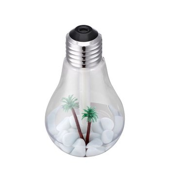 Colorful Light Bulb Humidifier Usb Rechargeable Mini Desktop Led Night