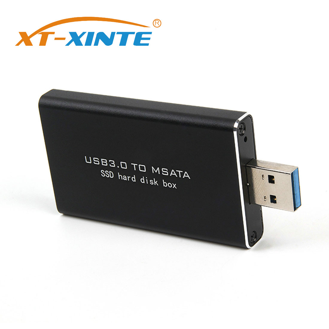 XT-XINTE 5Gbps USB 3.0 to mSATA <font><b>SSD</b></font> Enclosure USB3.0 to mini-SATA Hard Disk adapter <font><b>M2</b></font> <font><b>SSD</b></font> External HDD Mobile <font><b>Box</b></font> image