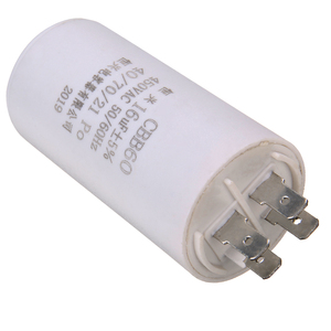16uf CBB60 Capacitor Double Insert Parts Water Pump Starting Capacitor Motor Permanent 450V 50 60 Hz AC Motor Micro Parts