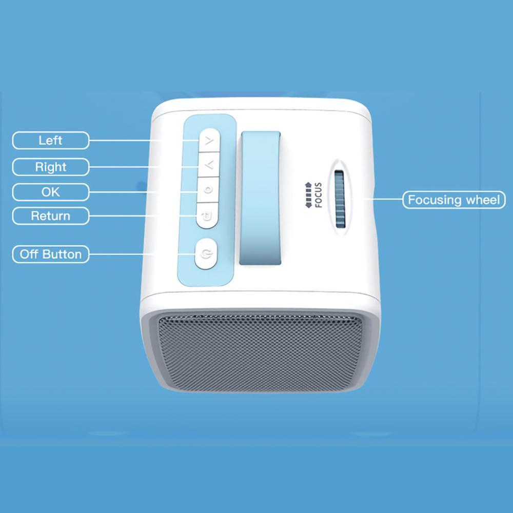 Lejiada q2 lcd mini projetor portátil suporte 1080p completo hd hdmi usb vga para crianças estudo presente de natal-3