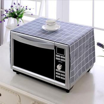 Dwie kieszonki osłony przeciwpyłowe osłona kuchenki mikrofalowej miękkie ubrania odporne na zanieczyszczenia przeciwpyłowe akcesoria kuchenne tanie i dobre opinie CN (pochodzenie) Nowoczesne Microwave Dust Cover Poliester bawełna
