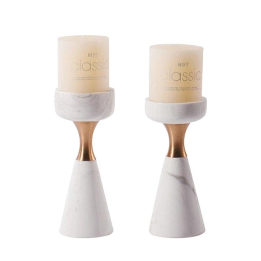 Bougeoir géométrique mariage fer métal photophore bougeoirs or Votive Artigos Para Festa bougies décoration de la maison 60K0015