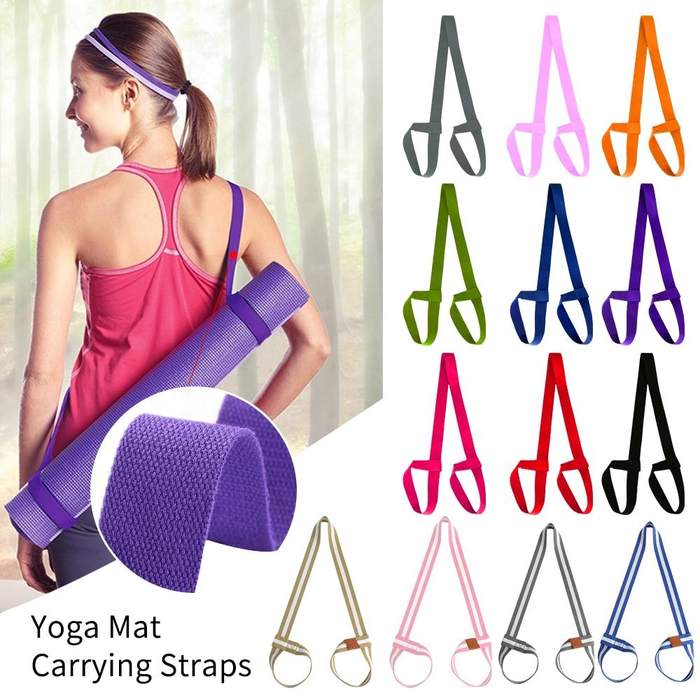High Quality Yoga Mat Strap Belt Adjustable Sports Sling Shoulder Carry Strap Belt Exercise Stretch Fitness Elastic Yoga Belt