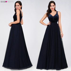 Image 3 - Elegant Evening Dresses Ever Pretty EP07849 Burgundy Sexy Formal Party Gowns 2020 Sparkle Tulle Womens Wedding Party Gown