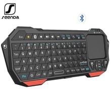 Seenda mini teclado sem fio com touchpad para mac notebook caixa de tv portátil lidar com teclado bluetooth para ios android win 7 10