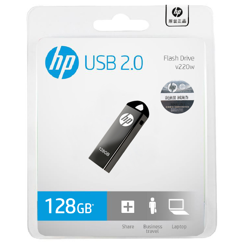 Original HP 64GB 32GB 16GB 8GB USB3.0 Pendrive USB Flash Drive Memory Stick Metal U Disk V220W For Computer