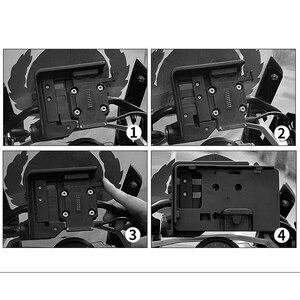 """Image 5 - USB נייד טלפון אופנוע ניווט סוגר USB טעינה הר תמיכה עבור BMW R1250GS עו""""ד R 1250GS עו""""ד R 1250 GS הרפתקאות"""