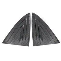 2 шт. боковой экран Наклейка ABS затвор задний карбоновый волокно четверть вентиляционный черный чехол отделка окна жалюзи автомобиля Стайли...
