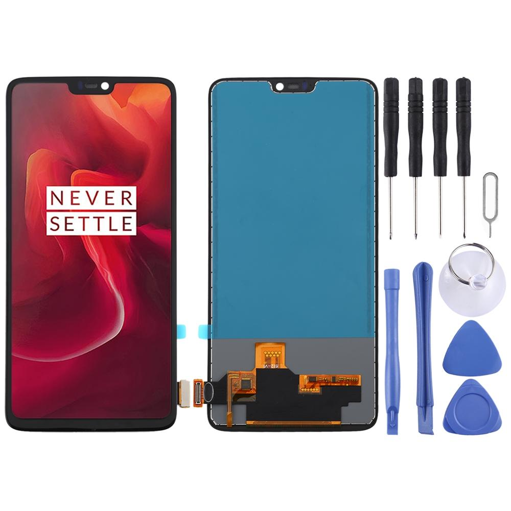LCD Screen and Digitizer Full Assembly for <font><b>OnePlus</b></font> 6 <font><b>A6000</b></font>(Black) image