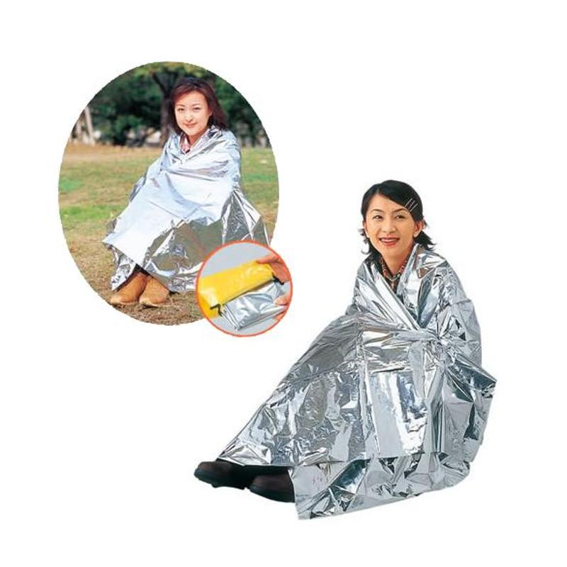 Portable Waterproof Emergency Space Rescue Thermal Mylar Blanket 1.3 X 2.1m