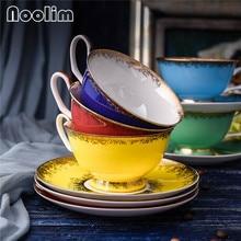 Европейский модный фарфоровый чайный набор из костяного фарфора, высококачественная керамическая кофейная чашка и блюдце, набор посуды для напитков, Подарочный вечерний чайный набор