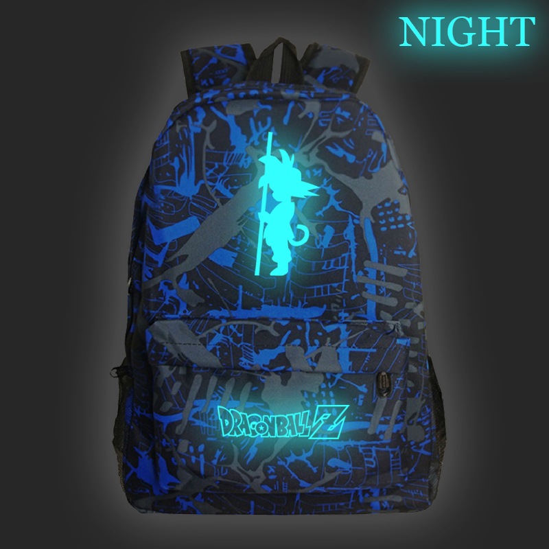 Dragon Ball Z Backpack For Back School Bag Dragon Ball Z Teenagers Children School Bags Laptop Travel Shoulder Bags Luminous