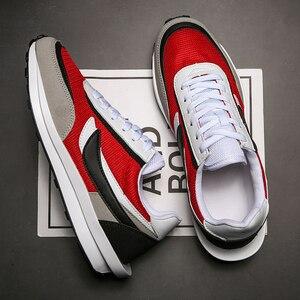 Image 3 - Yeni ayakkabı erkekler Zapatillas Hombre koşu rahat ayakkabı nefes örgü ayakkabı moda rahat erkek ayakkabısı yetişkin Chaussure Homme