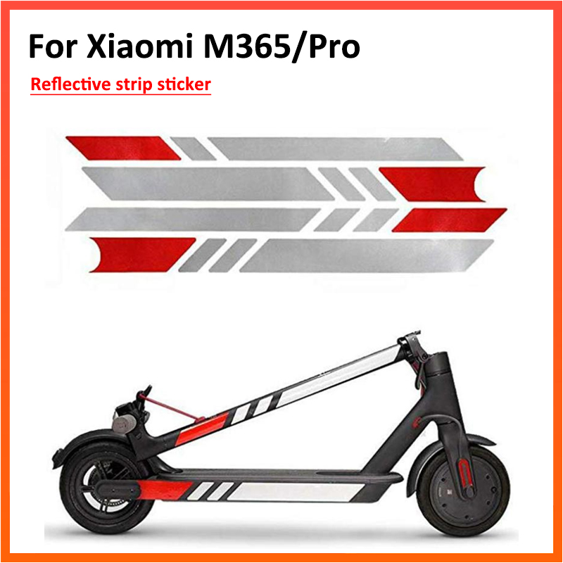 Night Reflective Stickers for <font><b>Xiaomi</b></font> <font><b>Mijia</b></font> <font><b>M365</b></font> and <font><b>PRO</b></font> Electric Scooter Skateboard Accessories image