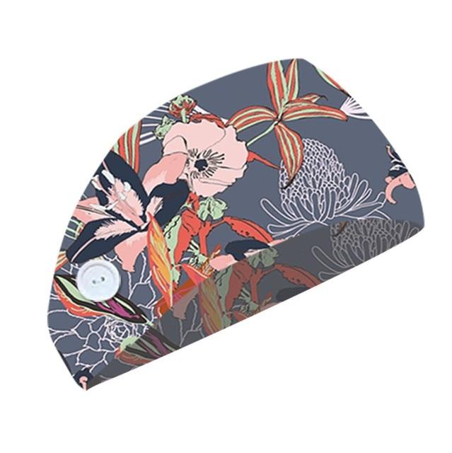 Button headband face mask holder w