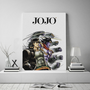 Canvas Print Picture Jotaro Kujo Wall Art Jojo S Bizarre Painting Home Decoration Anime Role Module Poster For Living Room Frame 2