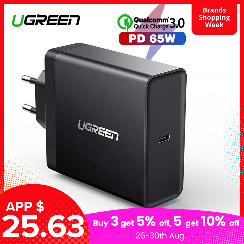 Ugreen 65W Charger Switch Tablet Nintendo IPad Macbook Apple Samsung ASUS Ce For Air