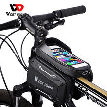 WEST BIKING Bicycle Bags Front Frame High quality MTB Bike Bag Cycling Accessories Waterproof Screen Touch Top Tube Phone Bag