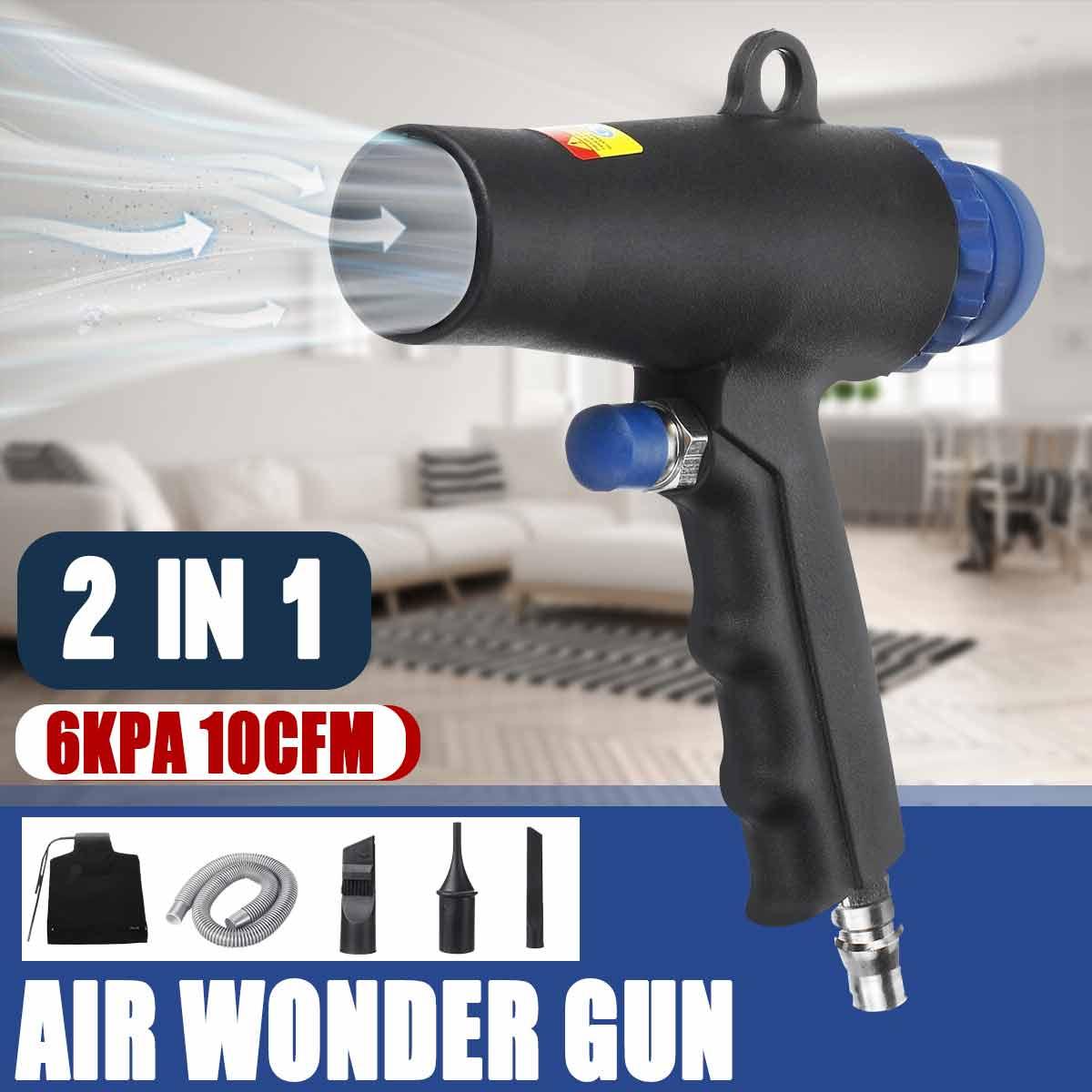 2 In 1 hava silgi kompresör çift fonksiyonlu hava vakum darbe emiş tabancaları kiti pnömatik elektrikli süpürge aracı