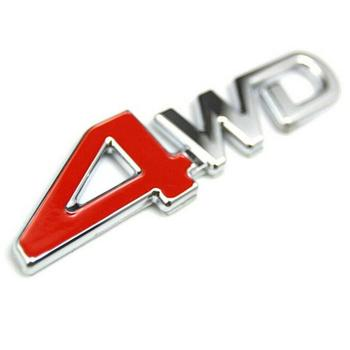 New Car Styling 4WD Zinc Alloy 3D Emblem Badge Sticker Car Turbo Boost Loading Boosting 3D Metal Chrome Decal Auto stickers image