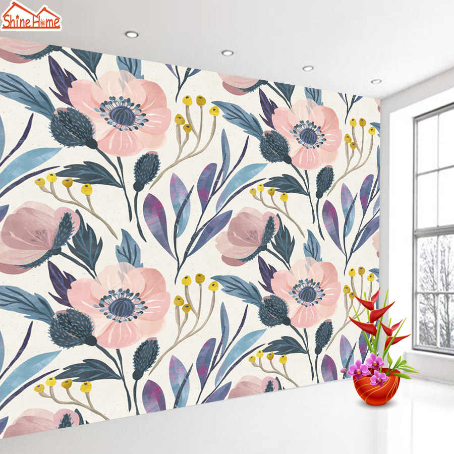 Vintage Floral Nature Wall Papers Home Decor Murals 3d Wallpapers for Living Room Mural Wallpaper Vinyl Roll Paper Improvement