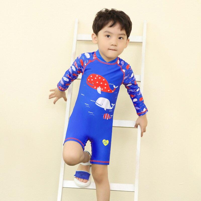 New Style KID'S Swimwear BOY'S Quick-Dry Swimwear Cute Baby Cartoon One-piece Spa Resort Korean-style Set