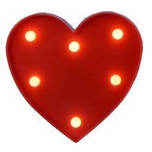 English Letter Big Red Love Light For Modeling Lights Wedding Digital Birthday Marriage Proposal White