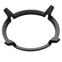 Hot 1Pc Black Wok Stands Cast Iron Wok Pan Support Rack for Burners Gas Hobs Cookers Cookers Kitchen Supplies Tool Accessories|Spoon Rests & Pot Clips|   -