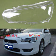 For Mitsubishi Lancer Ex 2010 2011 2012 2013 2014 2015 2016 Headlight Transparent Lampshade Shell HeadlightsGlass Headlight Lens