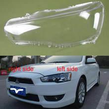 Mitsubishi Lancer Ex 2010 2011 2012 2013 2014 2015 2016 헤드 라이트 투명한 전등 갓 쉘 헤드 라이트 유리 헤드 라이트 렌즈