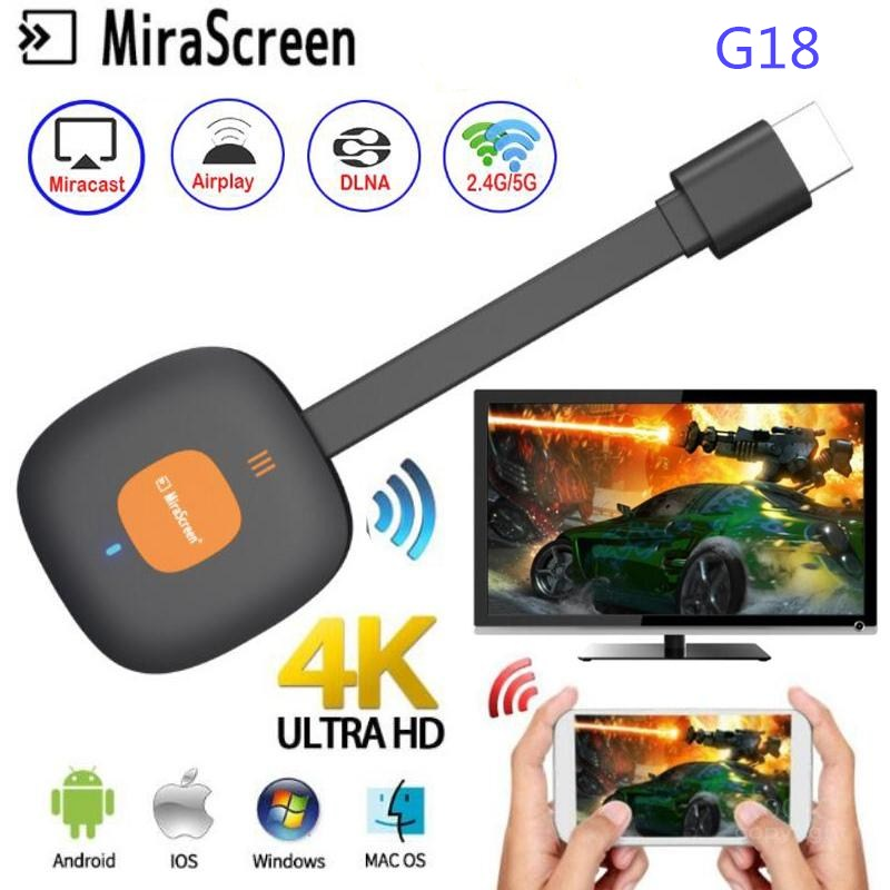 MiraScreen G18 Wireless HDMI WiFi Display HD TV Dongle Receiver For Android Mirror Screen Airplay DLNA Miracast TV Stick For IOS