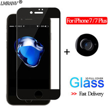 2-in-1 Camera Glass for iPhone 7 3D Protective For Plus Screen Protector 7plus Tempered iphone