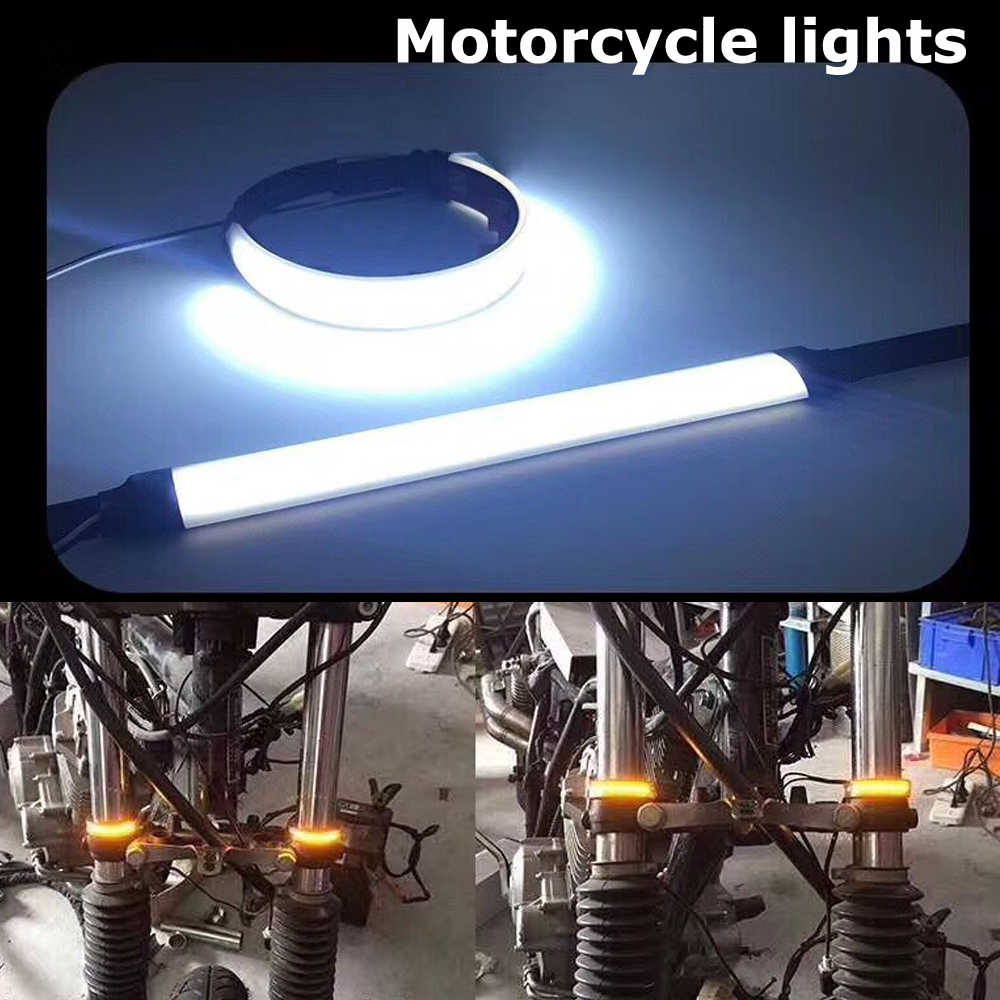 Motorcycle Light Led Turn Signal 20W Led Strip White Red Yellow Green Pink Led Moto Decorative Lights Lamp 12v