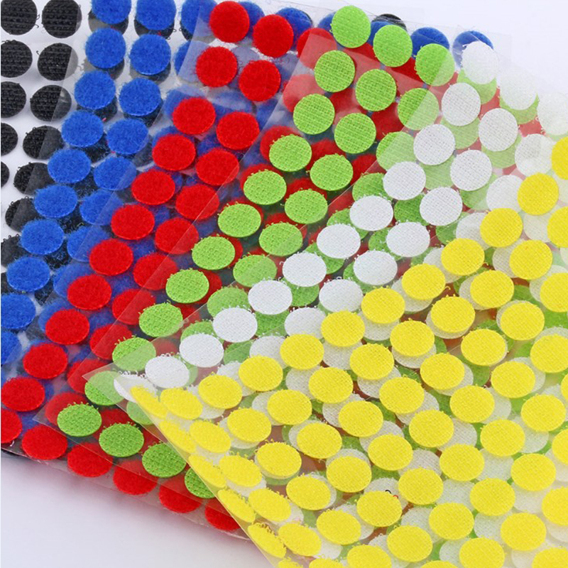 Self Adhesive Fastener Tape Dots Sticker Nylon Hook And Loop Multicolor Strong Glue Round Coins Tape Sewing Tools 99pairs