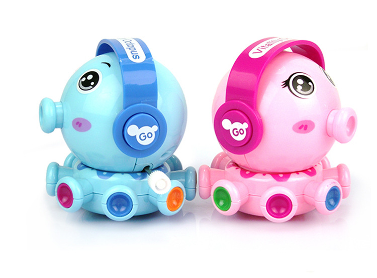 Walk Spring Small Toy Winding Rotating Circles Fun Small Octopus 2 Yuan Shop Supply Of Goods Toy