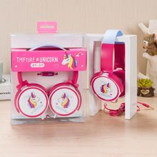 Colorful Unicorn Wired Headphones Children Music Stereo Headsets