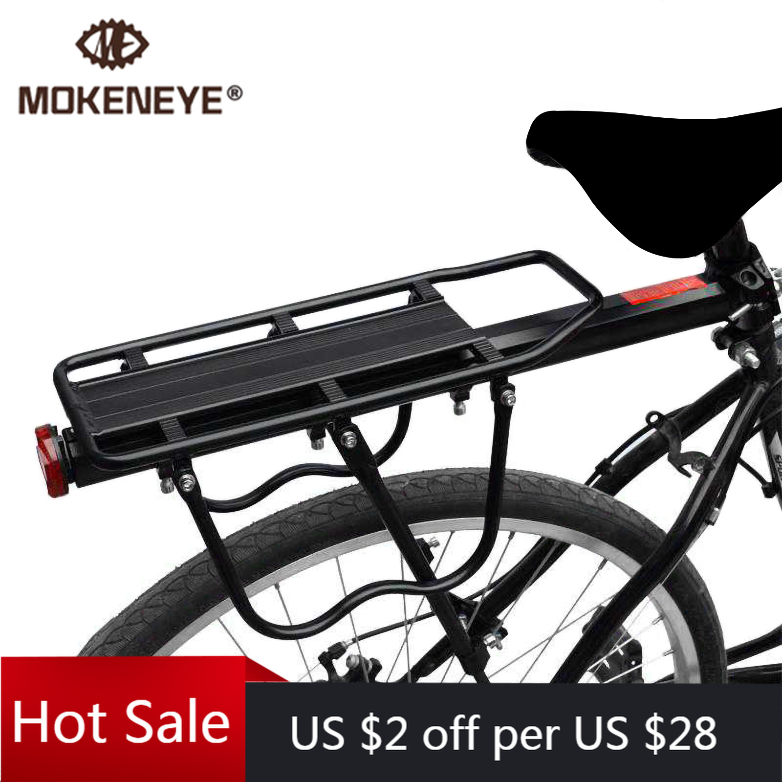 20-29 Inch Bicycle Carrier Bike Luggage Cargo Rear Rack Aluminum Alloy Shelf Sad