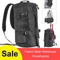 Angeln Tasche Folding Schwarz Zylindrische Große Kapazität Angelgerät Rucksack Tackle Lagerung Taschen Reise Carry Bag Schwarz