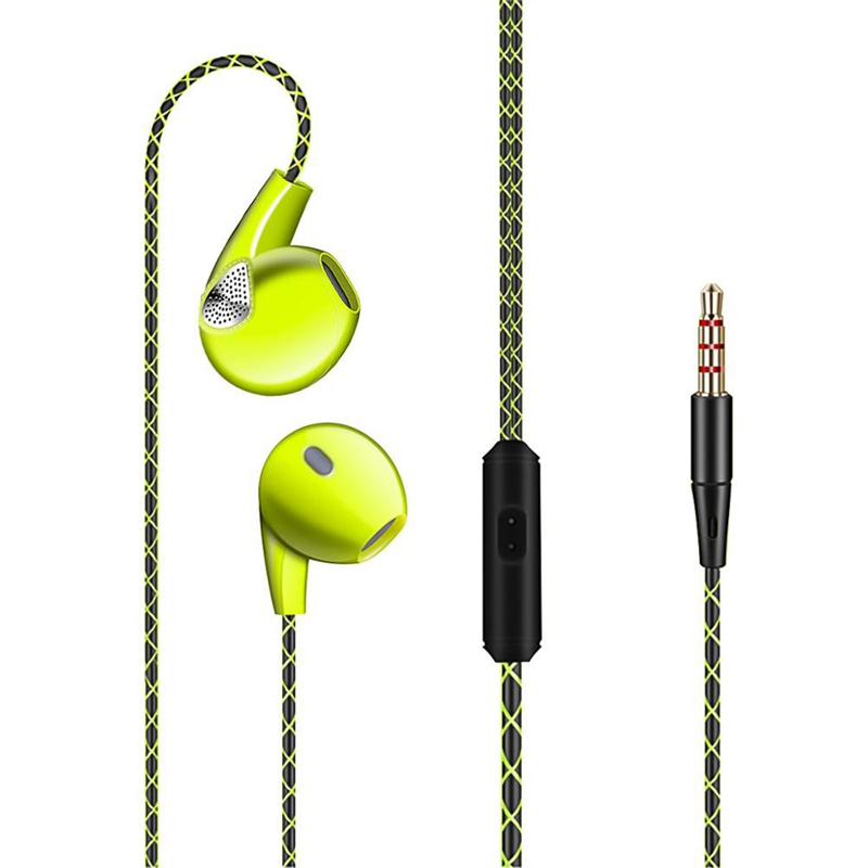 ABKT-Fashion Concise In-Ear Earphone Wired With Microphone Personality Earbuds Portable Volume Control Sport Earpiece Phone Earp