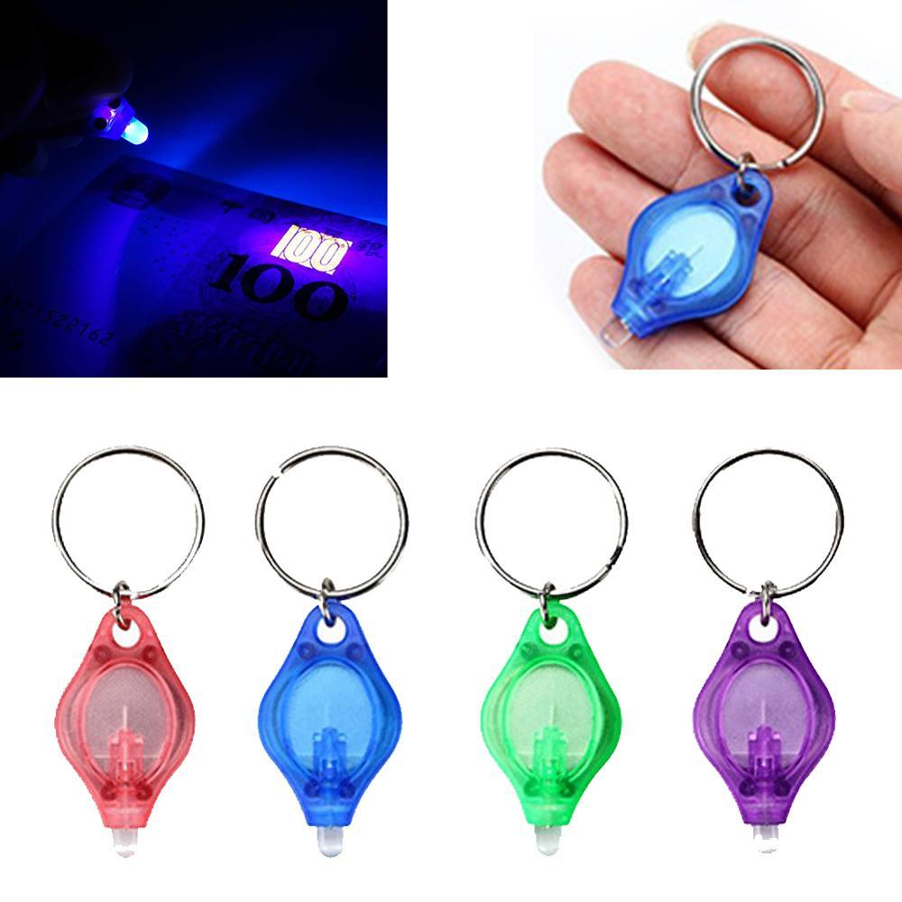 UV Mini Keychain LED Flashlight Promotion Gifts Torch Light Lamp Key Ring Light Torch Black Light UV Flashlight Ultraviolet