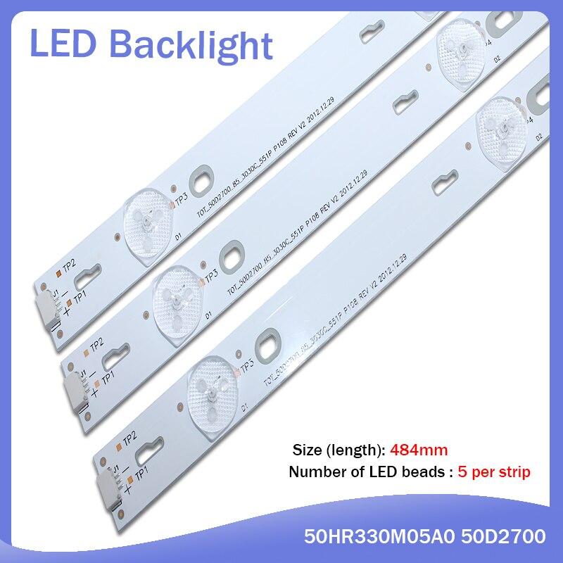 LED Backlight Strip 50D2700 50HR330M05A0 V2 For TCL 50FS3800 50FA3213 TOSHIBA 55L510U18 LVF500AU0T E4 4C-LB500T-YH2