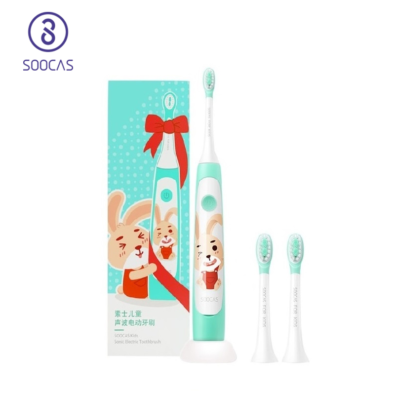 SOOCAS C1 Sonic Electric Toothbrush For Kids Ipx7 Waterproof Children Soft Tooth Brush Wireless Charging Cartoon Pattern